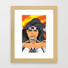 NEW 52! W. WOMAN READY FOR A FIGHT Framed Art Print