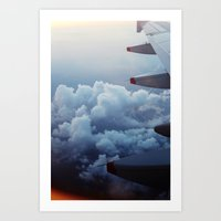 airplane Art Prints featuring airplane by venturesomesouls