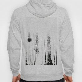 Black & white flower field illustration Hoody