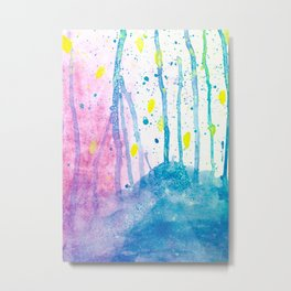 Enchanted Forest Watercolor Metal Print