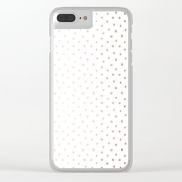 Cool Rose Gold Polka Dots Clear iPhone Case