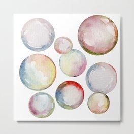 Hello Bubbles Metal Print