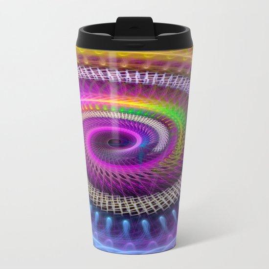 Colorful textured spiral abstract Metal Travel Mug