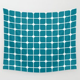 Modern Cubes - Teal Wall Tapestry