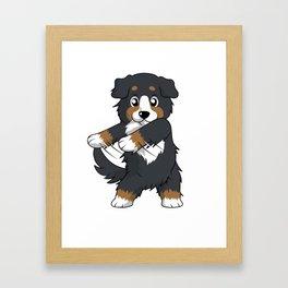 Flossing Bernese Mountain Dog Floss Dance  Framed Art Print