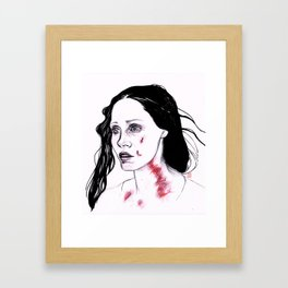 Lucille Sharpe Inktober Drawing Framed Art Print