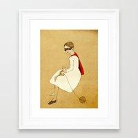 superhero Framed Art Prints featuring Superhero by Irena Sophia