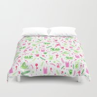 barcelona Duvet Covers featuring Barcelona by Paula Zak