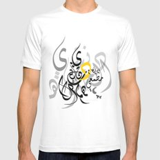 Arabic love MEDIUM White Mens Fitted Tee