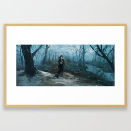 Along the Edge: Practicing the Miracles Framed Art Print