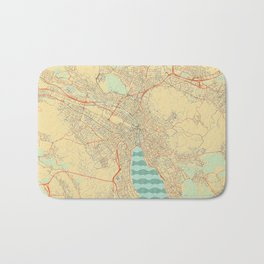 Zurich Map Retro Bath Mat