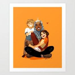 Modern AU Ahsoka & the Twins Art Print