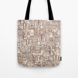 gingerbread town Tote Bag