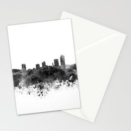 Little Rock skyline in black watercolor on white background Stationery Cards