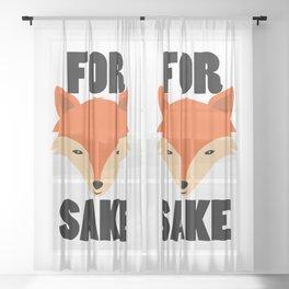FOR FOX SAKE Sheer Curtain