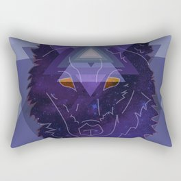 Geo Wolf Rectangular Pillow
