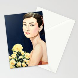 les temps doux  Audrey Stationery Cards