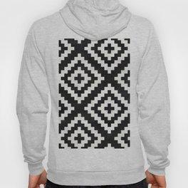 Urban Tribal Pattern No.17 - Aztec - Black and White Concrete Hoody