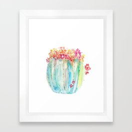 Cactus of Many Colors Framed Art Print