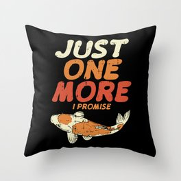 Japanese Koi Shirt exotic pond carp gift Throw Pillow