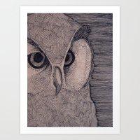 Owl Eyes Art Print