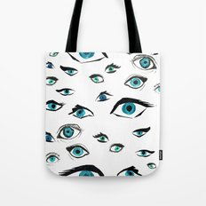 Girl Eyes Tote Bag