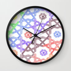 Rainbow Squares Wall Clock