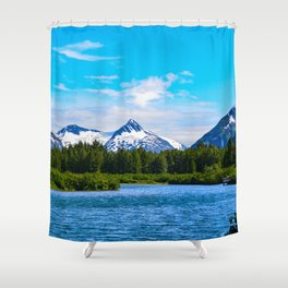 Portage Valley Summer - I Shower Curtain