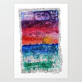 sunset art (eco love) #2 Art Print