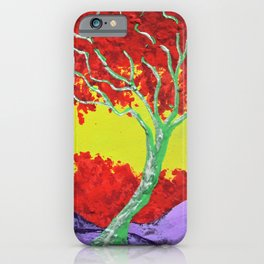 Twilight Woods #288 by Mike Kraus - collectibles red yellow green purple trees forest woods nature iPhone Case