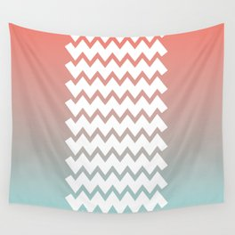 Chevron on Peach Echo and Limpet Shell Gradient Wall Tapestry