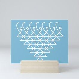 Sacred Geometry-Saraswati Yantra-2 Mini Art Print