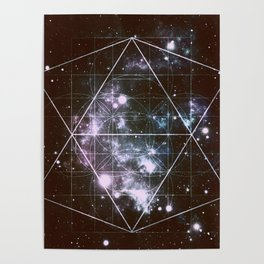 Galaxy Sacred Geometry dark Poster