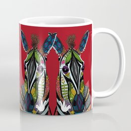 zebra love red Coffee Mug