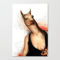 lama Canvas Prints featuring lama by Andrei Moldovan