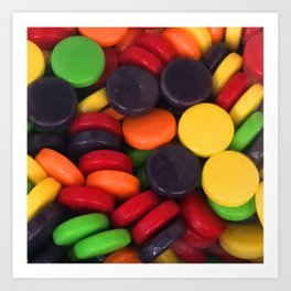 Colorful Candy Pieces Art Print