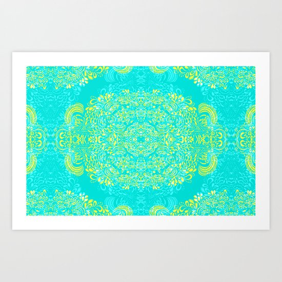 Thinking - 2 colour zest Art Print