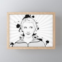 Pop Art, Portrait of Women Looking Up Framed Mini Art Print