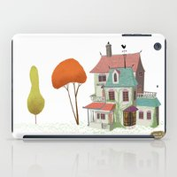 haunted mansion iPad Cases featuring Mansion by David Pavon