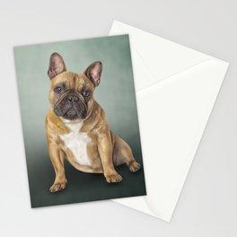 Drawing dog French Bulldog Stationery Cards