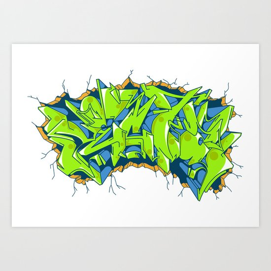 Vecta Wall Smash Art Print