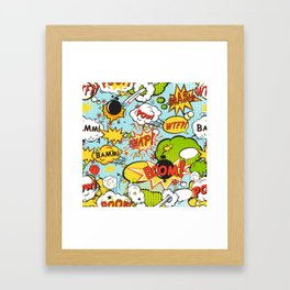 Modern Happy Pop-art Pattern Framed Art Print