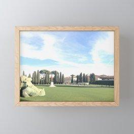 A piece of Pisa Framed Mini Art Print