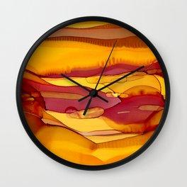 Amber Waves of Grain Wall Clock