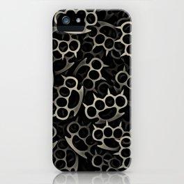 knuckles brass iPhone Case