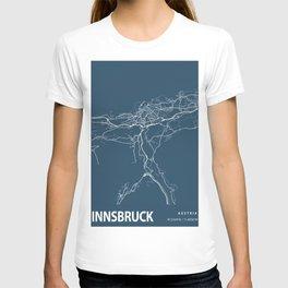 Innsbruck Blueprint Street Map, Innsbruck Colour Map Prints T-shirt