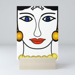 Lady of classic time Mini Art Print