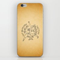foo fighters iPhone & iPod Skins featuring The Fighters by Fat Brothers Tattoo Art Emporium