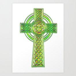celtic cross Art Print