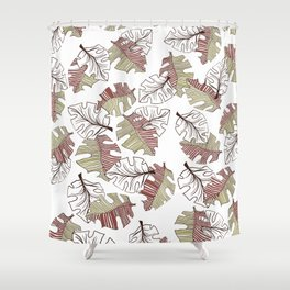 FALLING LEAVES COL. Shower Curtain